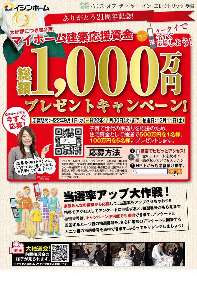 総額1,000万円プレゼントキャン...